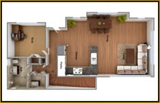 3D  Interior House Plans India