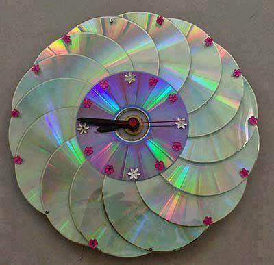 Orologio a parete con cd la casa delle idee for Orologio fai da te