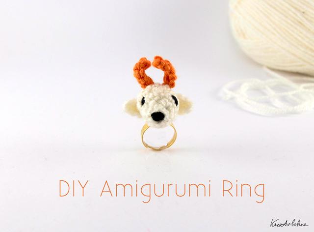 Amigurumi hakeln: Hirsch-Ring - DIY Blog von Anastasia