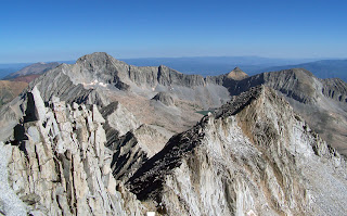 From the summit of Snowmass Mountain looking towards Capitol Peak