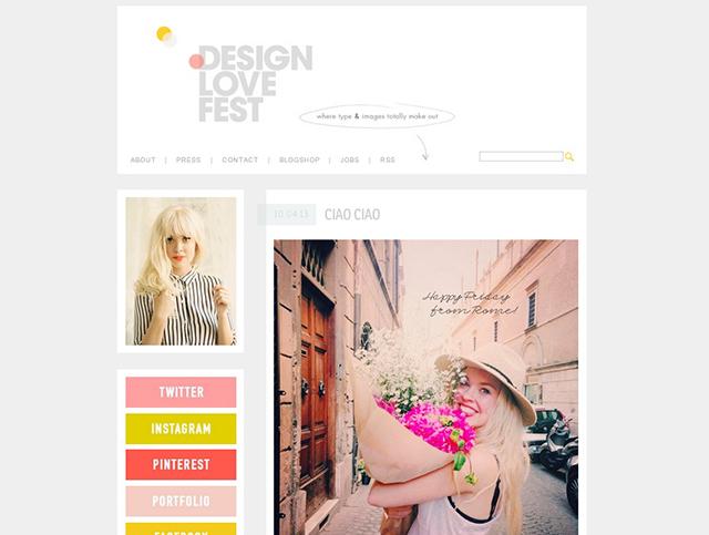 design love fest blog screenshot