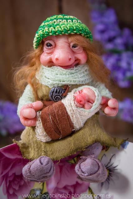 ooak fantasy doll- caregiver goblin