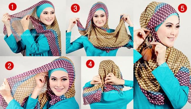 Tutorial Hijab Layer Segi Empat Simple | newhairstylesformen2014.com