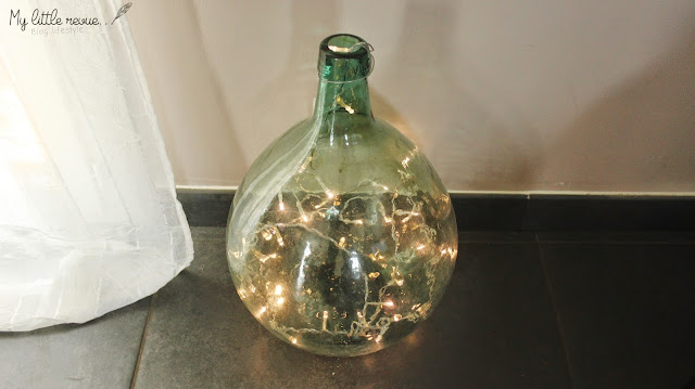 DIY bouteille en verre lumineuse
