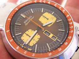 SEIKO CHRONOGRAPH SPEEDTIMER BROWN BULLHEAD - AUTOMATIC 6138