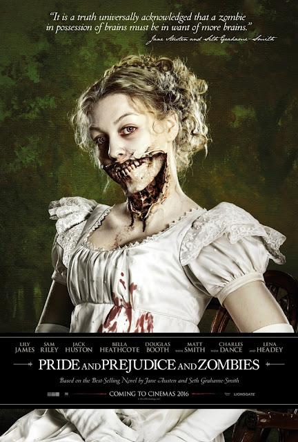 pride prejudice and zombies poster
