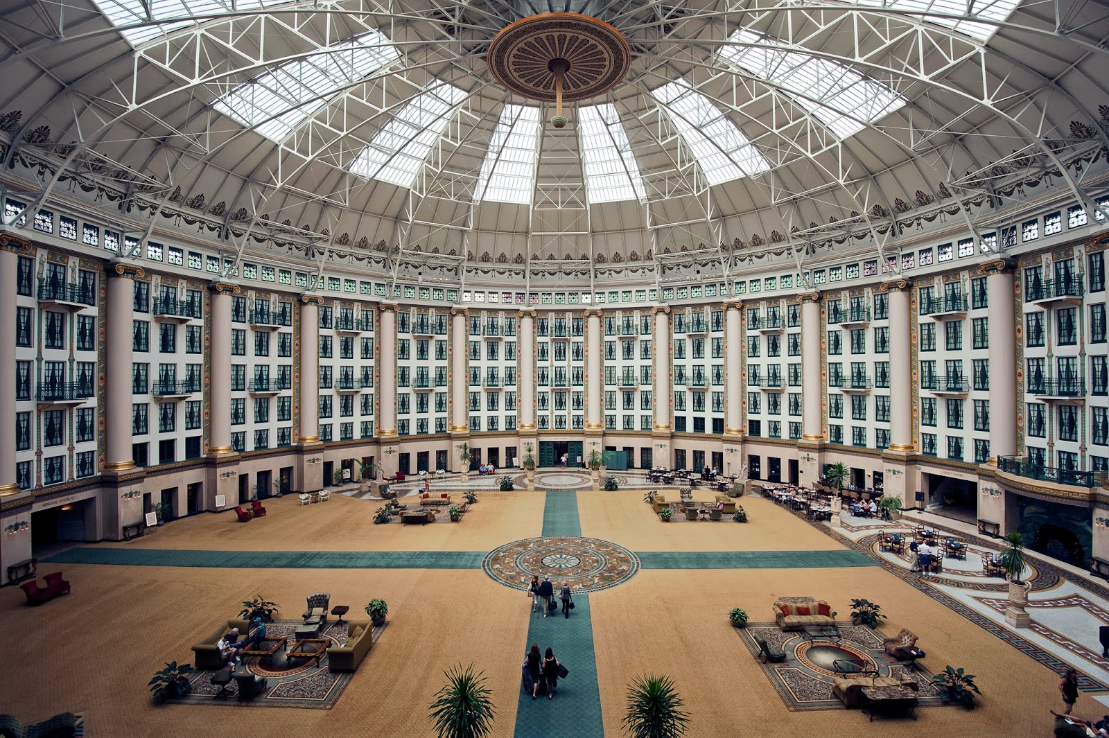 Atrium of Historic Hotel in West Baden, IN
