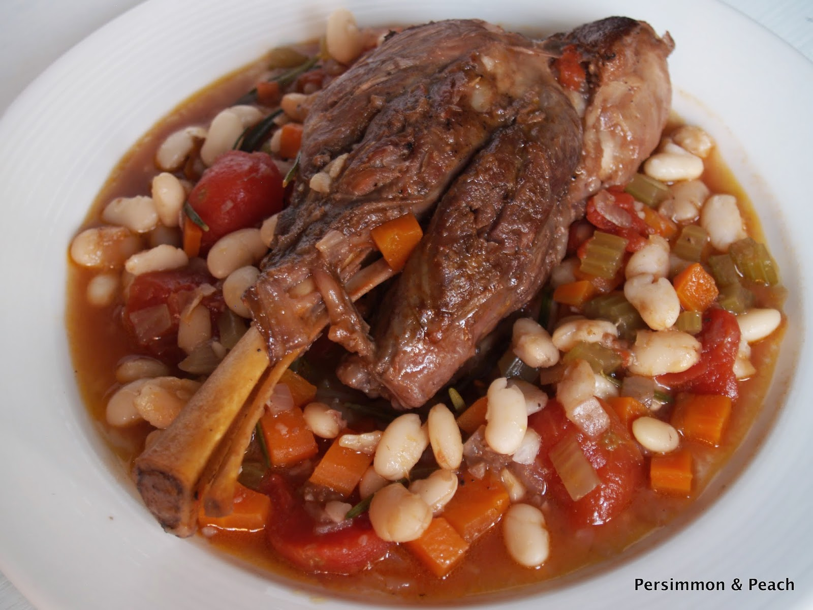 Braised Lamb Shanks with White Beans & Rosemary