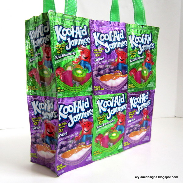 Image result for Recycle: Make a Capri Sun Tote Bag