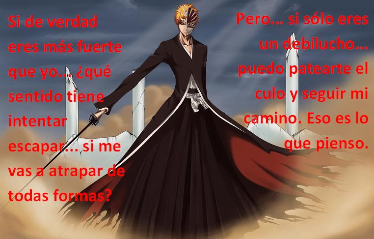 Frases con fotos del anime. Ichigo2