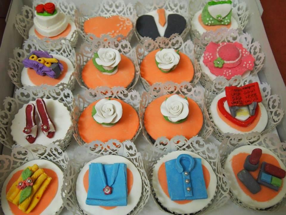 Orange Fondant cupcake