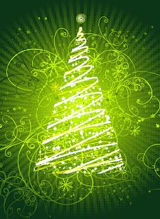 輝くクリスマス・ツリーのデザイン FLASHING CHRISTMAS TREE VECTOR MATERIAL イラスト素材3