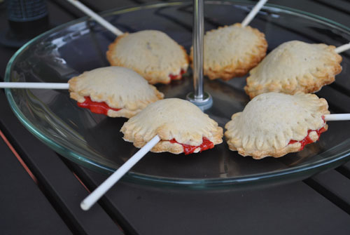 cherry pie on a stick