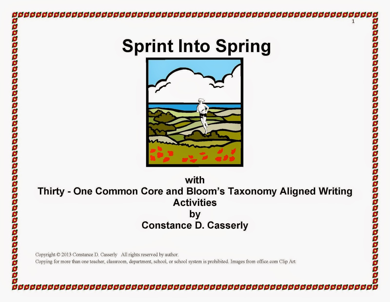 "31 ELA Writing Activities - ""March Maneuvers - Sprint Into Spring"""