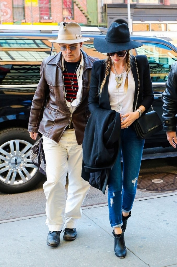 Amber Heart and Johny Depp Street Style