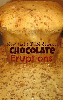 Experiments for kids- Make chocolate eruptions, a chocolate volcano, and a chocolate waterfall. Now that's fun Science!
