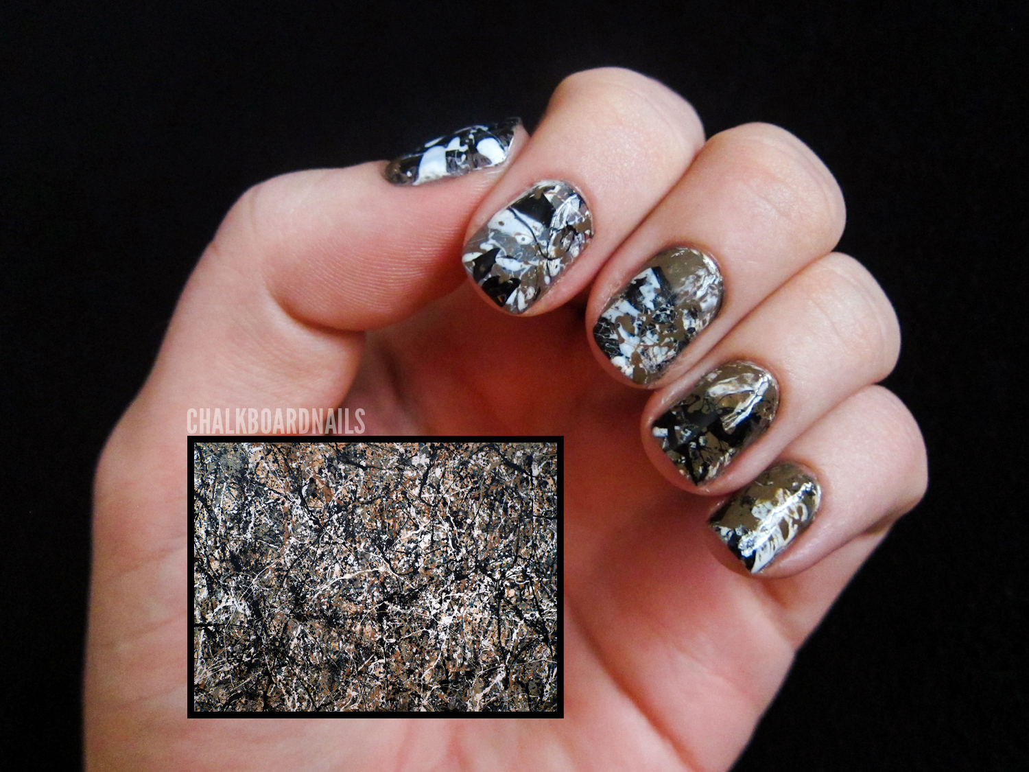 31 Day Challenge, Day 27: Inspired by Artwork | Chalkboard Nails ...
