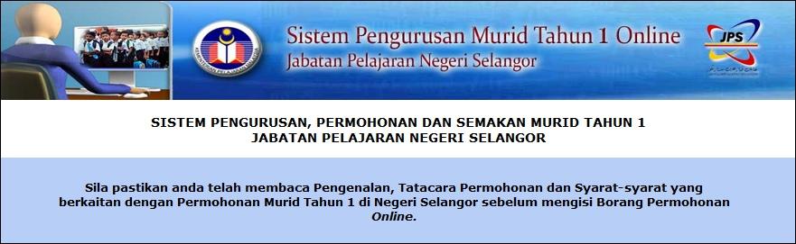 Pendaftaran Murid Tahun Satu Negeri Selangor Tahun 2014 2015