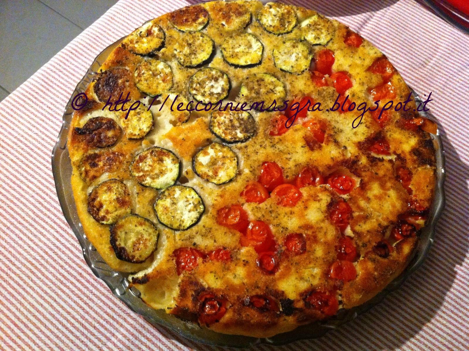 le leccornie di mrs gra : focaccia pugliese rovesciata con verdure ... - Creare Un Blog Di Cucina