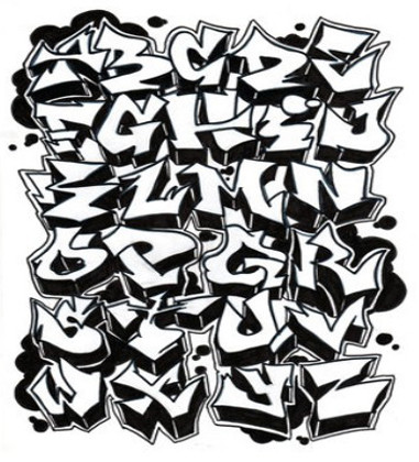 how to write graffiti style