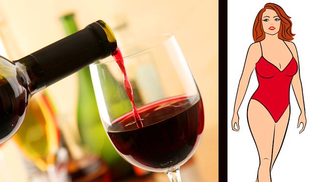 vin rosu pentru talie