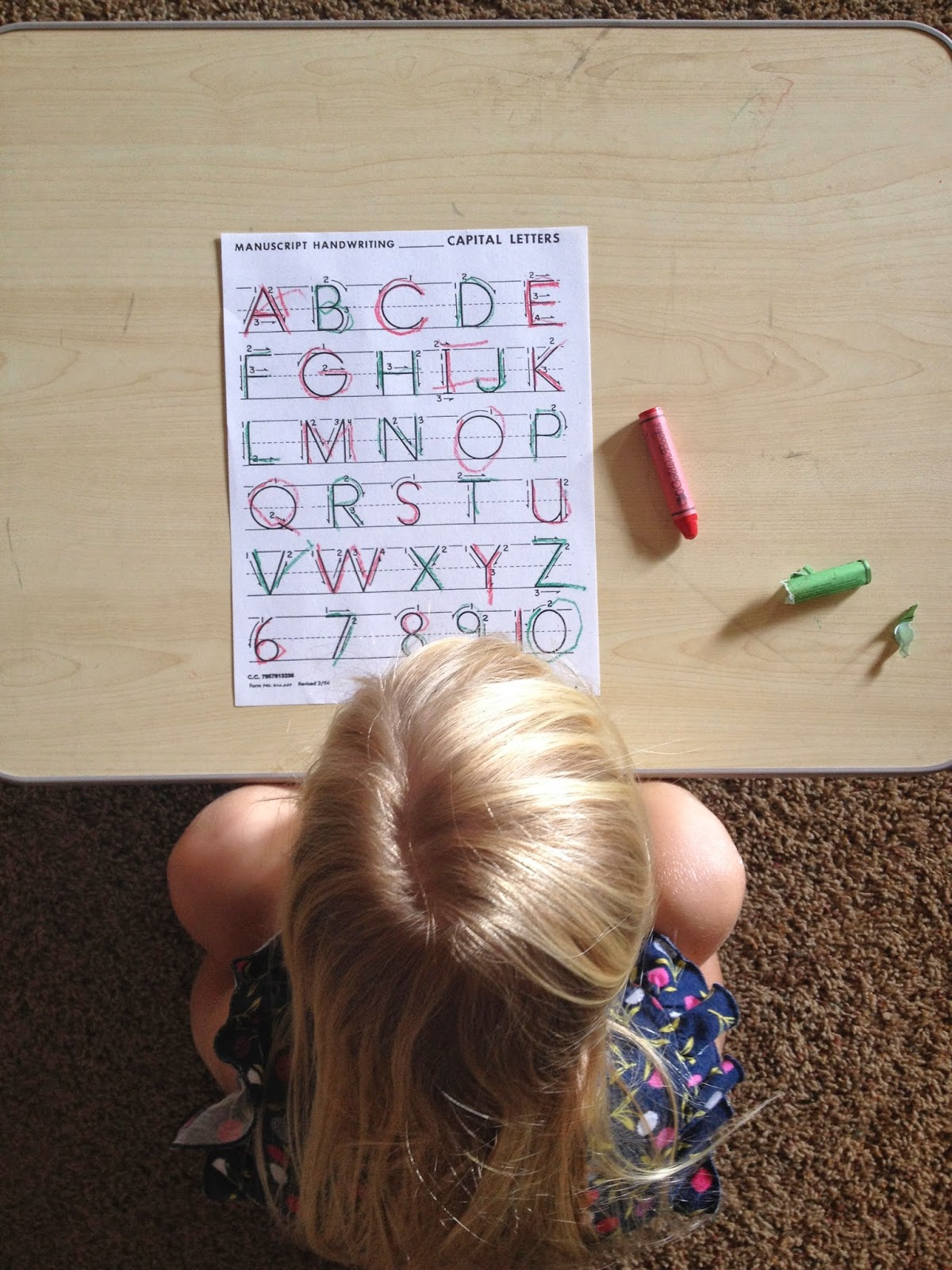 teaching sight words to kids pre-schoolers tracing letters