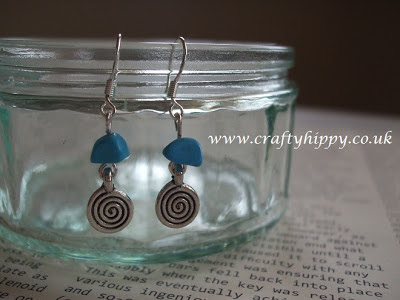 Turquoise Spiral Earrings £7.50