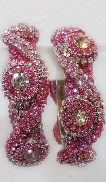 Glittering Diamante Occasion Weeding Bangles