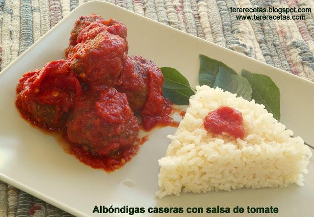 Albóndigas caseras con salsa de tomate