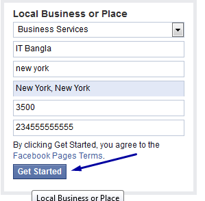 business or page