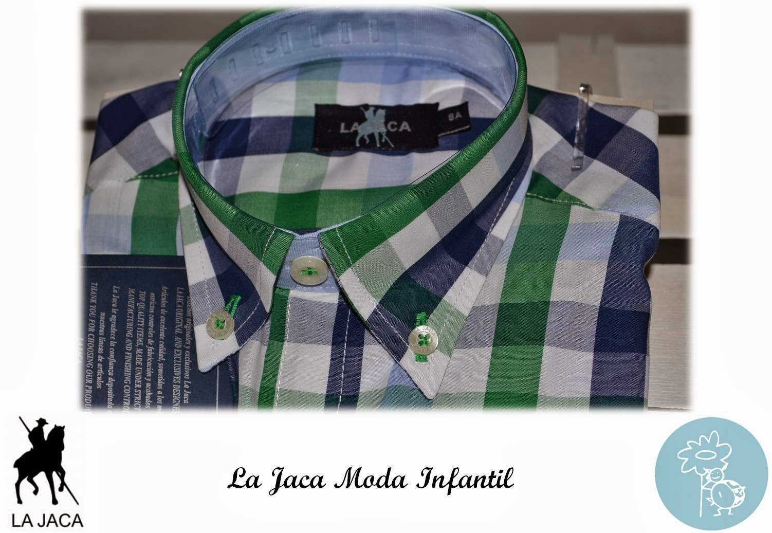 La Jaca -Camisa cuadros detalle cuello- Blog Retamal moda infantil y bebe