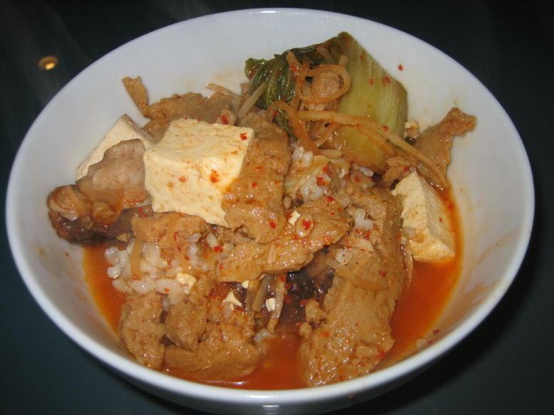 how to prepare kimchi soup