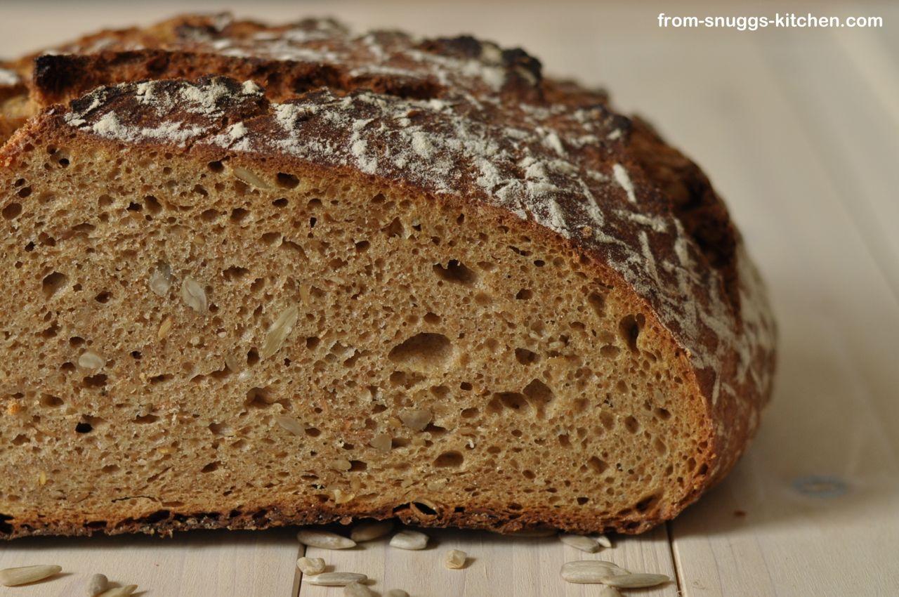 Mehrkorn No Knead Brot, Anschnitt