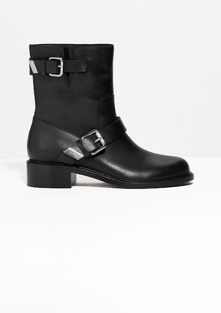 buckle biker boots, stories ankle boots,