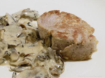 Filet mignon de porc aux champignons (voir la recette)
