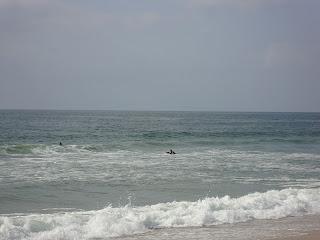 Samouco Beach sea surfers photo - Leiria - Portugal