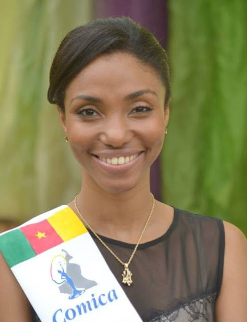 Miss World Cameroun Cameroon 2013 winner Denise Valerie Ayena