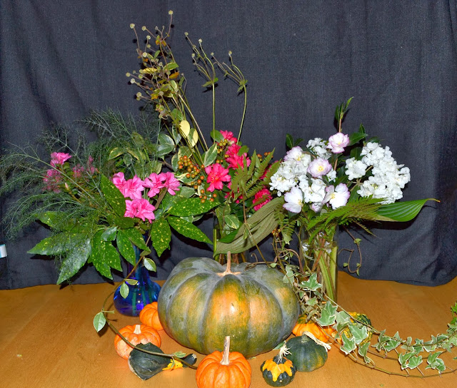 Fall bouquets, http://growingdays.blogspot.com