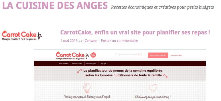 Blog La Cuisine des Anges