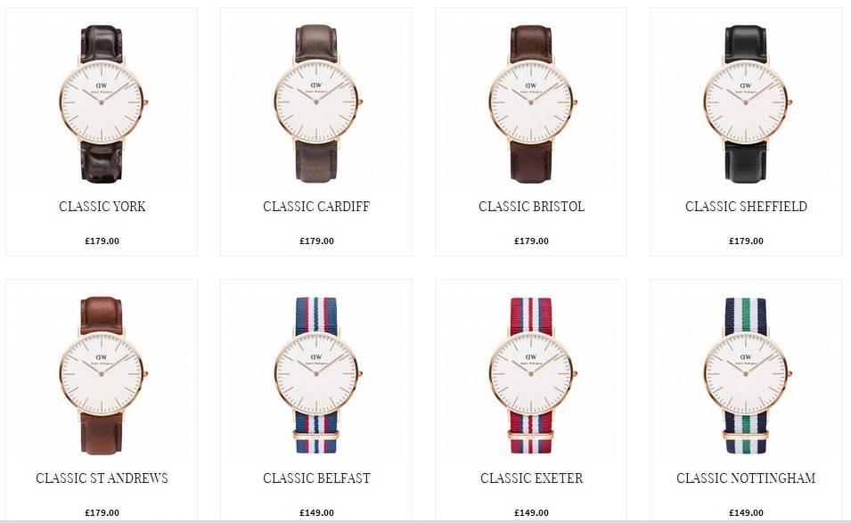 product review the daniel wellington watch that dapper chap some of the range of daniel wellington watches