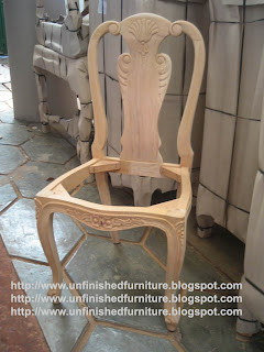 indonesia raw furniture supplier Classic Chippendale Queen Ann side dining chair