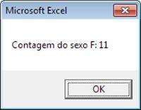 Excel, VBA, Resultado