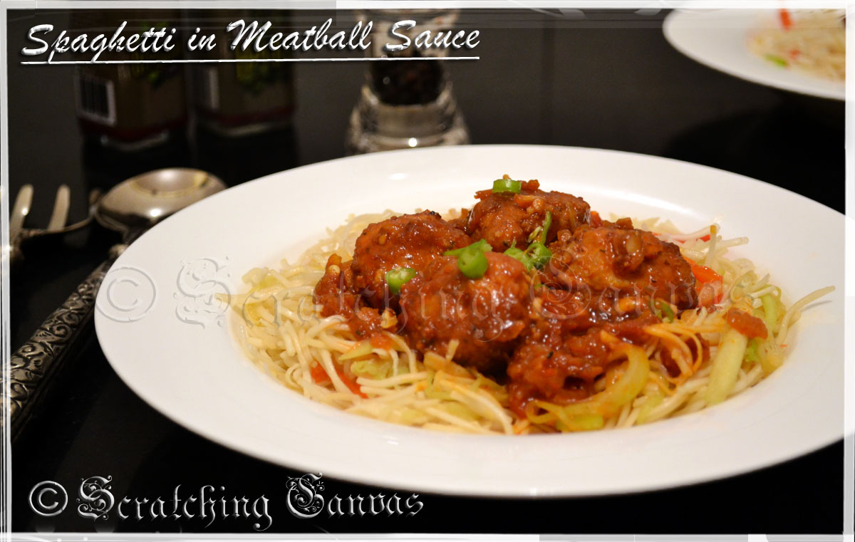 ... by step recipe of Spaghetti with Italian Meatball in Tomato Sauce