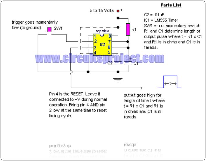 Elementary Ic Monostable Multivibrator Circuit Diagram
