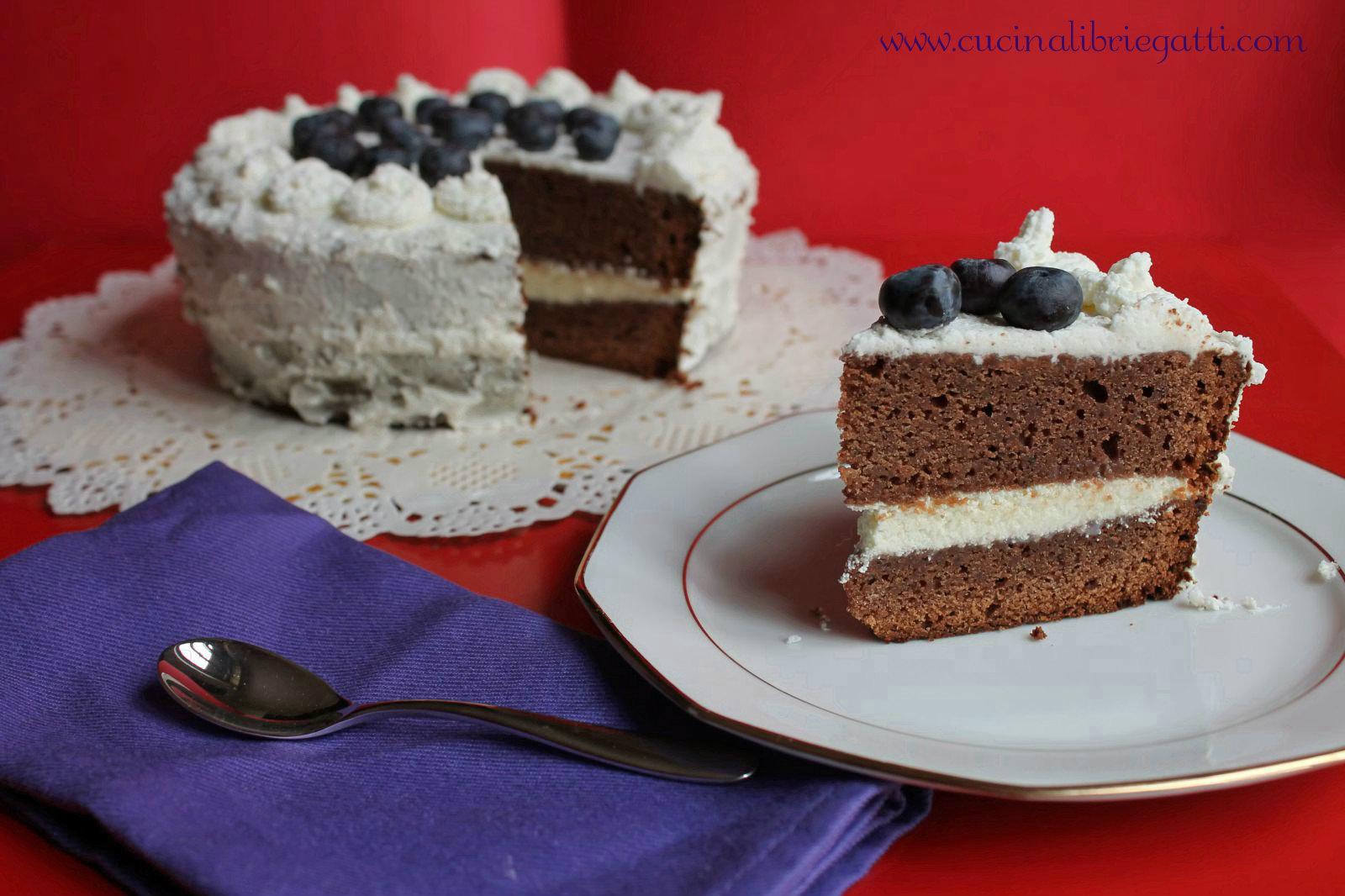 Torte Da Credenza Al Cioccolato : Mud cake al cioccolato con ganache bianco cucina