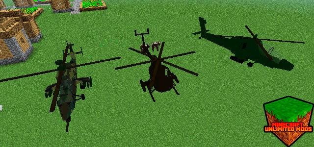MC Helicopter Mod vehículos