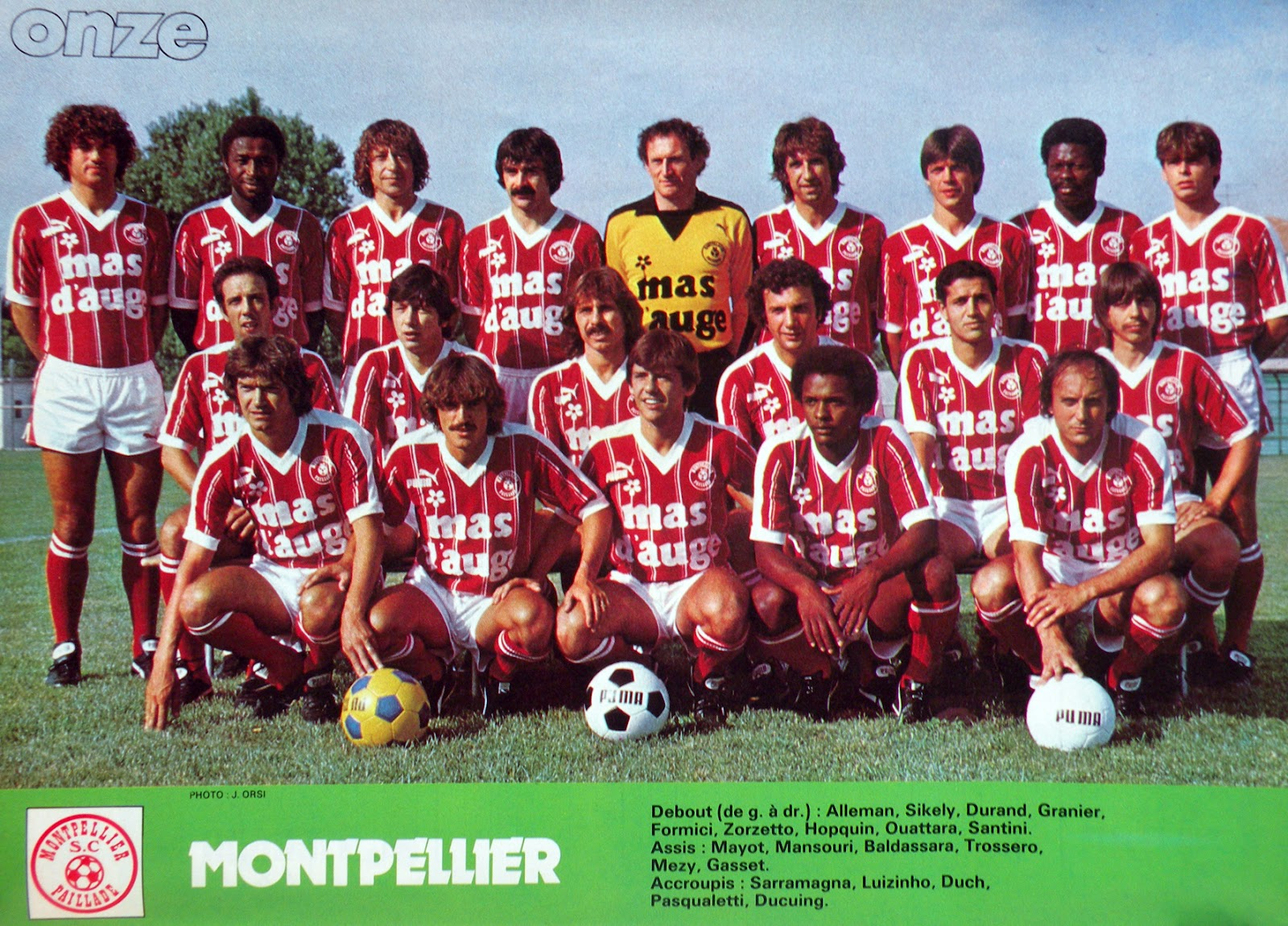 Montpellier la paillade 1981 82 by panini the vintage for O miroir magique montpellier
