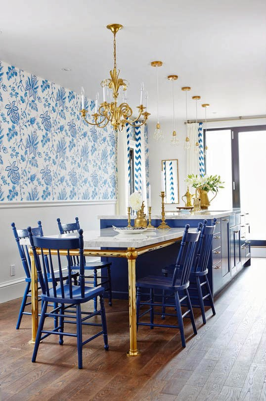 Design Fixation {Trend Alert} Blue and White Kitchens