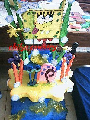 Fiestas infantiles decoraci n bob esponja centros de mesa - Decoracion bob esponja ...