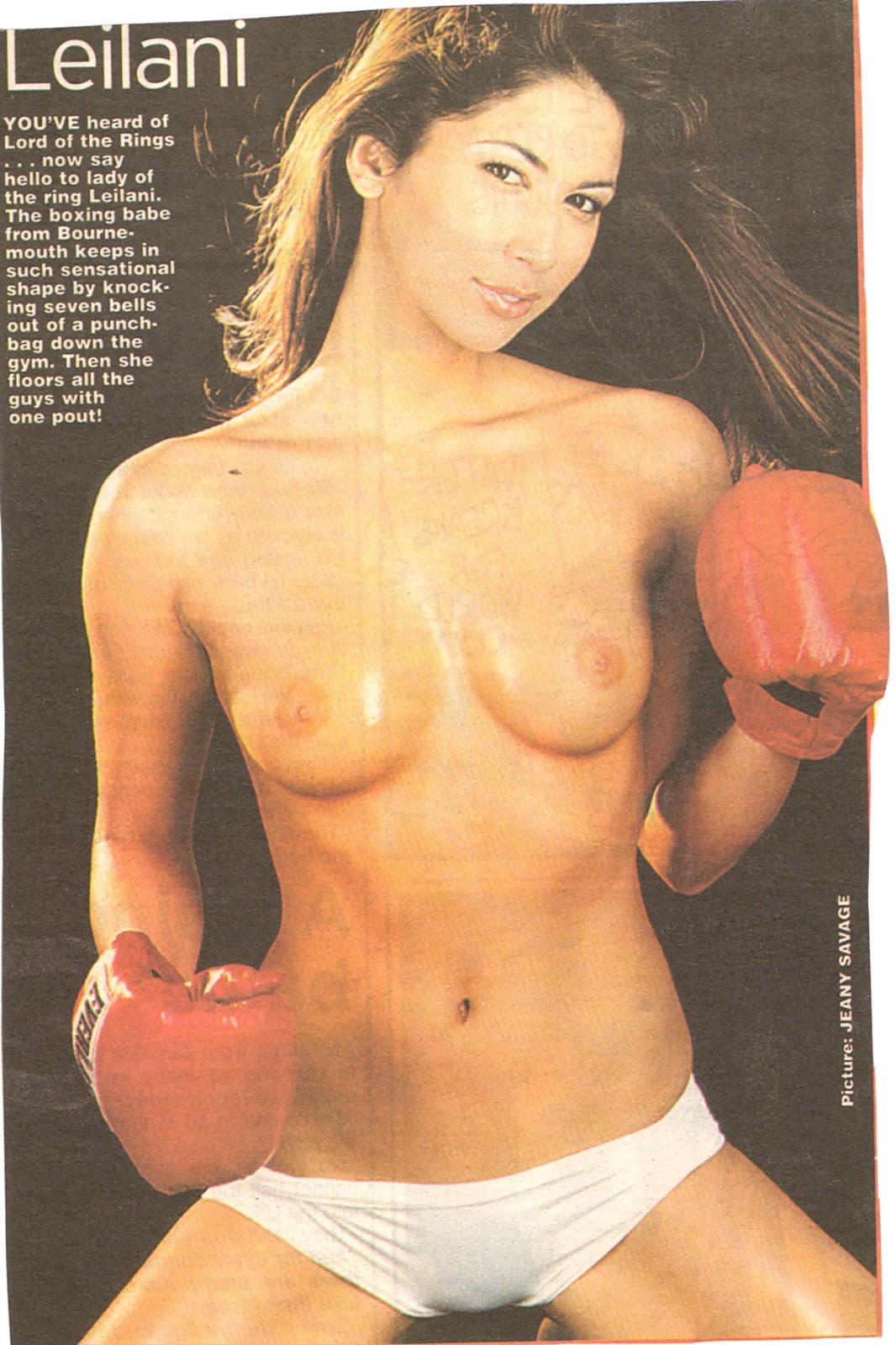 boxing Leilani dowding topless